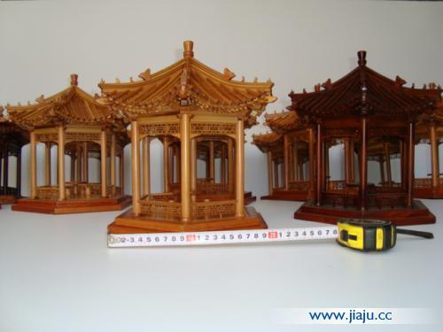 木制微缩袖珍仿古工艺品 古建筑模型家具模型凉亭模型