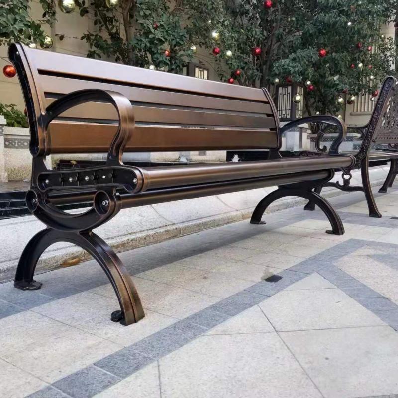 百树恒户外铸铝公园椅 +户外休闲椅长椅现货供应